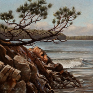 "SOLD ""Shore Dweller,"" by Ray Ward 10 x 10 – oil $750 Unframed"