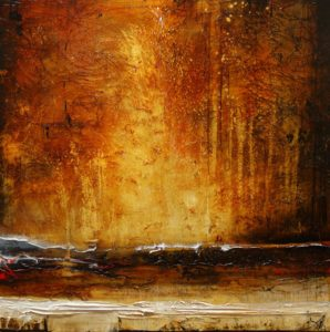 "SOLD ""Silent Explosions,"" by Laura Harris 48 x 48 – acrylic $6470 (thick canvas wrap without frame)"