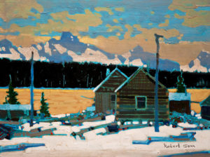 "SOLD ""Skeena October,"" by Robert Genn 12 x 16 – acrylic $3100 Unframed"