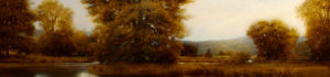 "SOLD ""Slough,"" by Renato Muccillo 12 x 48 – oil"