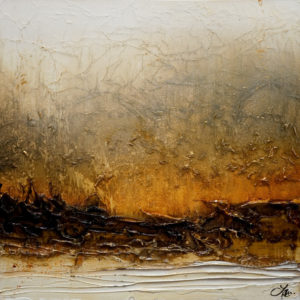 "SOLD ""Smokey Sun,"" by Laura Harris 24 x 24 – acrylic $2190 (thick canvas wrap without frame)"