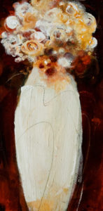"SOLD ""Snow White #1,"" by Susan Flaig 10 x 20 – acrylic with graphite $630 Unframed"