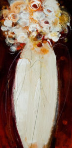 "SOLD ""Snow White #2,"" by Susan Flaig 10 x 20 – acrylic with graphite $630 Unframed"