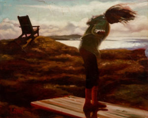 "SOLD ""Soaring,"" by Mark Heine 8 x 10 - oil $440 Unframed $615 in show frame"