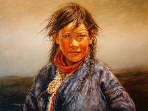 "SOLD ""Soft Wind,"" by Donna Zhang 30 x 40 – oil"