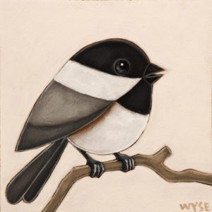 "SOLD ""The Soloist,"" by Peter Wyse 6 x 6 – acrylic $385 (unframed panel  with 1 1/2"" edging)"