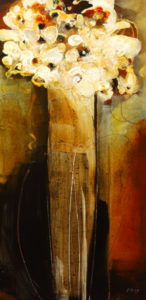 "SOLD ""Sophisticated,"" by Susan Flaig 18 x 36 – acrylic with graphite $1120 Unframed"