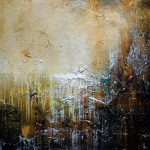 "SOLD ""Spirit Streams,"" by Laura Harris 36 x 36 – acrylic $3880 (thick canvas wrap without frame)"