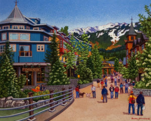 "SOLD ""Springtime in Whistler,"" by Michael Stockdale 24 x 30 – acrylic $1490 Unframed"