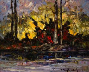 "SOLD ""Stantions,"" by Phil Buytendorp 10 x 12 – oil $710 Framed"
