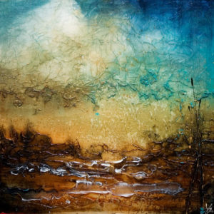 "SOLD ""The Still and Moving,"" by Laura Harris 36 x 36 – acrylic $3880 (thick canvas  wrap without frame)"