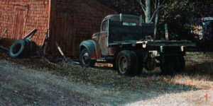 "SOLD ""The Storage Shed,"" by Alan Wylie 8 x 16 – acrylic $1620 Unframed"