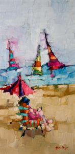 """SOLD """"Study: at bay,"""" by Angela Morgan 12 x 24 - oil $1000 (thick canvas wrap without frame)"""