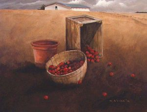 "SOLD ""Study of Apples,"" by Mark Fletcher 12 x 16 – acrylic"