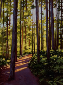 "SOLD ""Summer Trail,"" by Ray Ward 9 x 12 – oil $650 Unframed"
