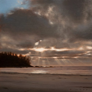 "SOLD ""Sunbeams, Nel's Bight,"" by Ray Ward 8 x 8 - oil $585 Unframed $760 in show frame"