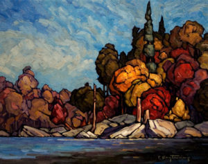 "SOLD ""Sunny Autumn,"" by Phil Buytendorp 16 x 20 – oil $1100 Unframed"