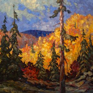 "SOLD ""The Sunny Side,"" by Phil Buytendorp 30 x 30 – oil $2370 Framed"
