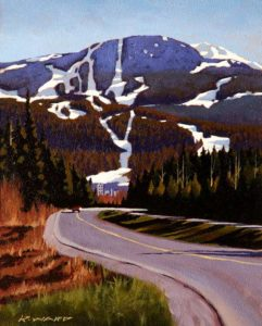 "SOLD ""Sunny Slopes,"" by Ray Ward 8 x 10 – oil $650 Framed"