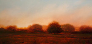 "SOLD ""Sunrise Over the South Path,"" by Renato Muccillo 15 x 30 – oil"