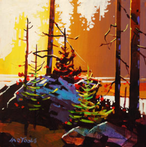 """SOLD """"Sunset at Long Beach,"""" by Michael O'Toole 12 x 12 – acrylic $815 Framed"""