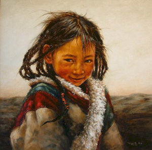 "SOLD ""Sweetness,"" by Donna Zhang 30 x 30 – oil"