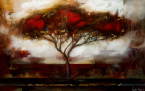 """SOLD """"Take a Deep Breath,"""" by Heather Haynes 30 x 48 – acrylic with high-gloss finish $2645 Unframed"""