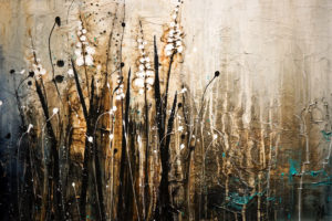 "SOLD ""They Stand Waiting,"" by Laura Harris 24 x 36 – acrylic $2720 (thick canvas  wrap without frame)"