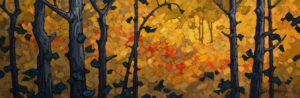 "SOLD ""Through the Screen,"" by Phil Buytendorp 12 x 36 – oil $1440 Unframed"