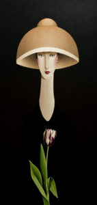 "SOLD ""Tiffany and the Tulip,"" by Danny McBride 24 x 48 – acrylic $4100 Unframed"