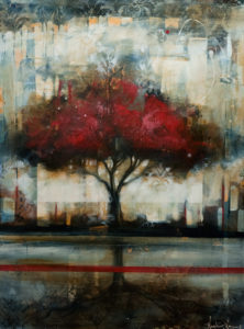 """SOLD """"Time to Reflect,"""" by Heather Haynes 30 x 40 – acrylic $2410 (thick canvas wrap without frame)"""