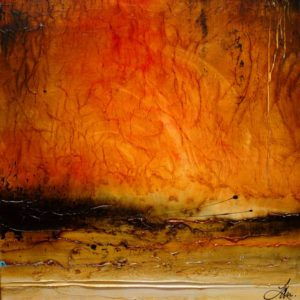 "SOLD ""Toward the Fall,"" by Laura Harris 36 x 36 – acrylic $3350 (thick canvas wrap without frame)"