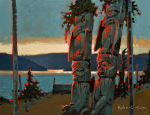 "SOLD ""Twilight of the Gods II,"" by Robert Genn 14 x 18 – acrylic $4100 Unframed"
