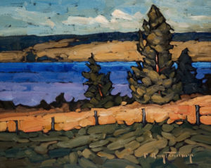 "SOLD ""Two Shores,"" by Phil Buytendorp 8 x 10 – oil $430 Unframed"