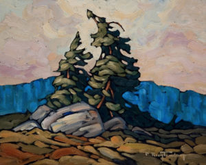 "SOLD ""Two Standing Alone,"" by Phil Buytendorp 8 x 10 – oil $430 Unframed"