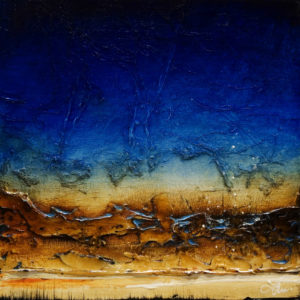 "SOLD ""Under Sapphire,"" by Laura Harris 12 x 12 – acrylic $1010 (thick canvas wrap without frame)"