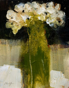"SOLD ""An unruly bunch from the green meadow,"" by Susan Flaig 11 x 14 – acrylic with graphite $570 Unframed"