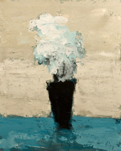"SOLD ""Vase Noir,"" by Robert P. Roy 24 x 30 – acrylic $1200 Unframed"