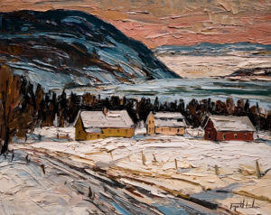 "SOLD ""Vue sur la vallée, Baie-St.-Paul, Charlevoix,"" by Raynald Leclerc (View of the Valley, Baie-St.-Paul, Charlevoix) 16 x 20 – oil $1800 Unframed"