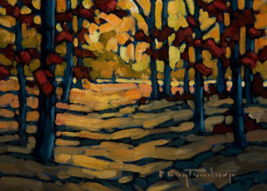 "SOLD ""Walk In The Park,"" by Phil Buytendorp 5 x 7 – oil $565 Framed $415 Unframed"