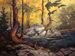"SOLD ""A Warm Corner,"" by Phil Buytendorp 30 x 40 – oil $3250 Framed"
