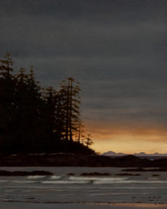 "SOLD ""Warm Horizon,"" by Ray Ward 8 x 10 – oil $695 Unframed"