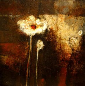 "SOLD ""The Way is Simple,"" by Susan Flaig 24 x 24 – acrylic/mixed media $1000 Unframed"