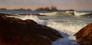 "SOLD ""West Coast Rhythms,"" by Ray Ward 10 x 20 – oil $980 Unframed"