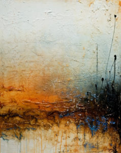 """SOLD """"What the Morning Brings,"""" by Laura Harris 24 x 30 – acrylic $2500 (thick canvas  wrap without frame)"""