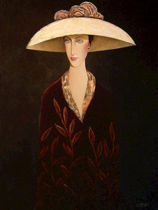 "SOLD ""The White Hat,"" by Danny McBride 30 x 40 – acrylic $3250 Unframed"