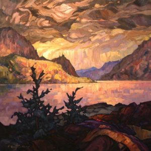 "SOLD ""Wild Sky,"" by Phil Buytendorp 30 x 30 – oil $2370 Framed"