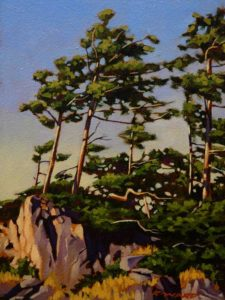"SOLD ""Windswept,"" by Ray Ward 6 x 8 – oil $535 Framed"