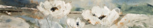 "SOLD ""Windswept Beach Flowers,"" by Susan Flaig 12 x 62 – acrylic/graphite $1550 Unframed"