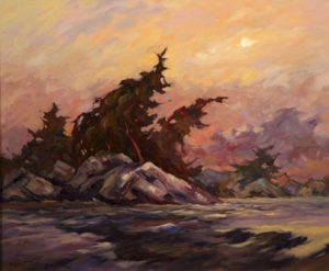"SOLD ""Windy River,"" by Phil Buytendorp 20 x 24 – oil $1645 Framed"
